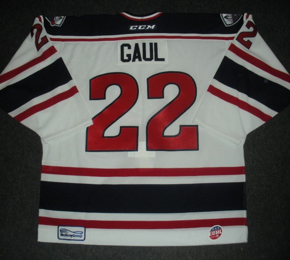 Patrick Gaul - Silver Skater - South Carolina Stingrays - Game-Worn Jersey - Worn 1/4/14