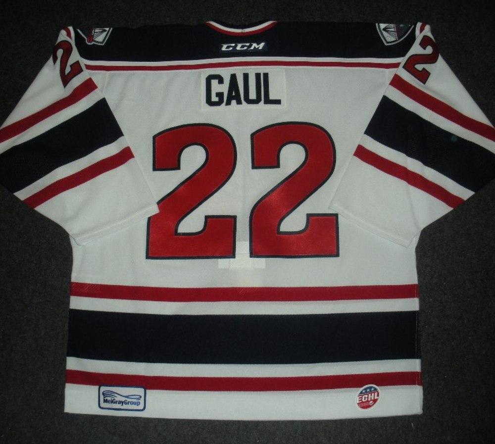 Patrick Gaul - Silver Skater - South Carolina Stingrays - Game-Worn Jersey - Worn 1/4/14