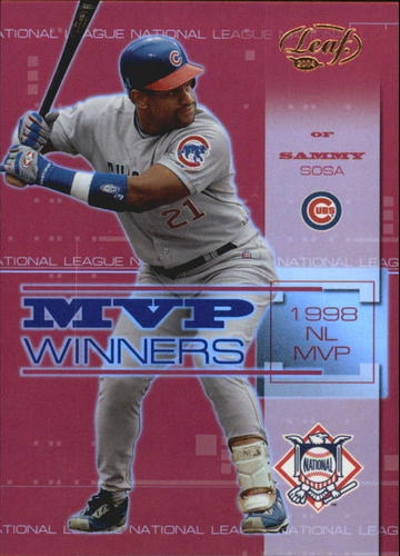 Photo of 2004 Leaf MVP Winners Gold #17 Sammy Sosa