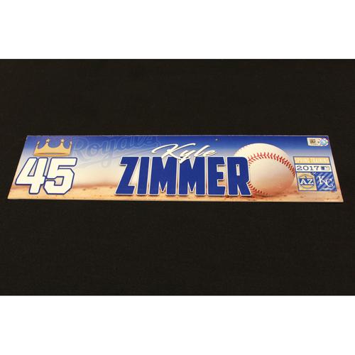 Photo of Kyle Zimmer Spring Training Locker Name Plate