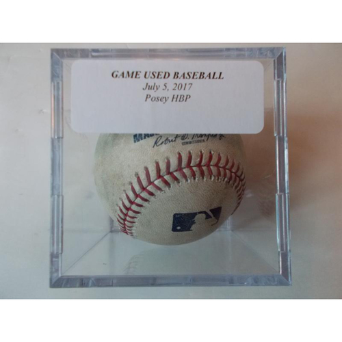 Photo of Game-Used Baseball: Buster Posey Hit by Pitch