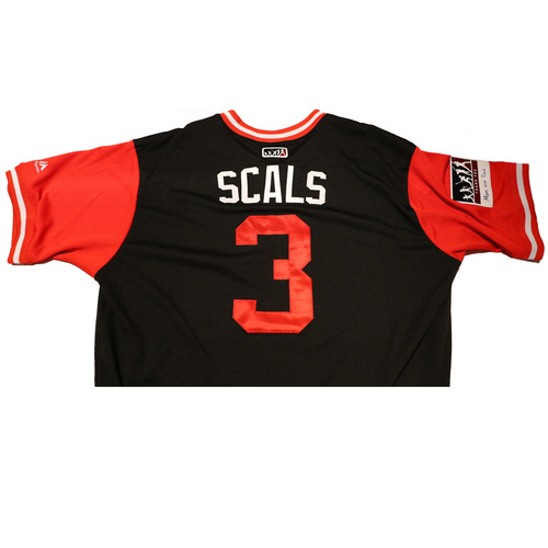 "Photo of Daniel ""Scals"" Descalso Arizona Diamondbacks Game-Used Players Weekend Jersey"