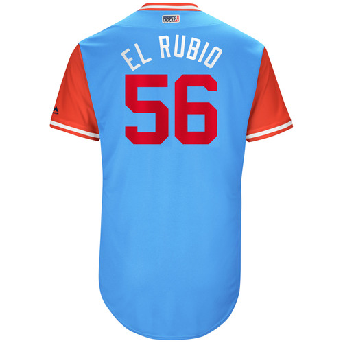 "Photo of Austin ""El Rubio"" Bibens-Dirkx Texas Rangers Game-Used Players Weekend Jersey"