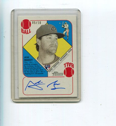 Photo of 2015 Topps Heritage '51 Autographs Green Back 5/10 Archie Bradley -- D'back post-season