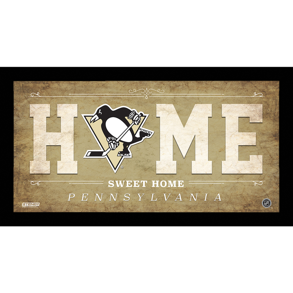 Pittsburgh Penguins 10x20 Home Sweet Home Sign - NHL Auctions