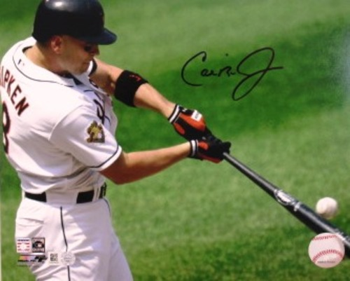 Photo of Cal Ripken Jr. Autographed 8x10 Swing