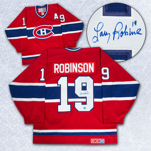 Larry Robinson Montreal Canadiens Autographed Retro CCM Hockey Jersey