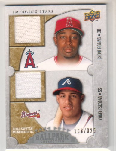 Photo of 2009 Upper Deck Ballpark Collection #127 Yunel Escobar/Chone Figgins/325