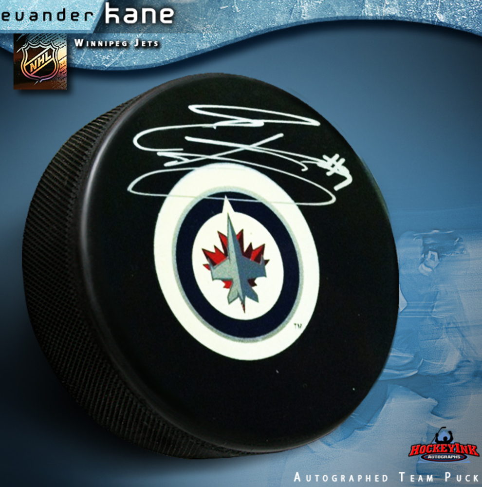 EVANDER KANE Signed Winnipeg Jets Puck