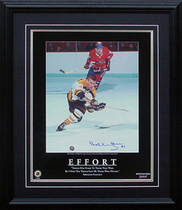 Bobby Orr - Signed & Framed 16x20 Etched Mat -