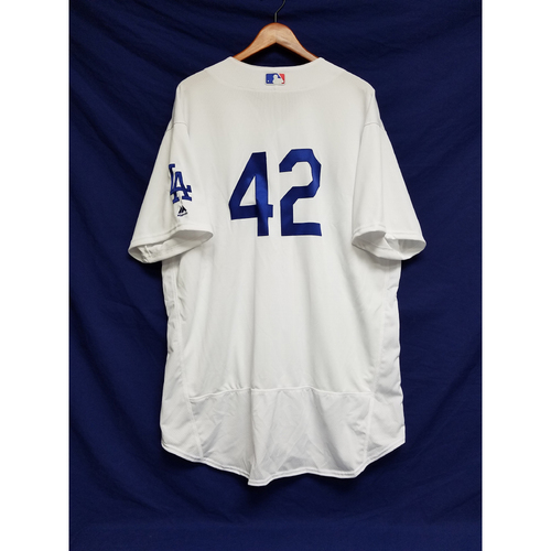 "Photo of Hyun-Jin Ryu Game-Used ""42"" Jersey"
