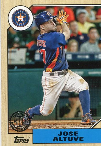 Photo of 2017 Topps '87 Topps #8755 Jose Altuve