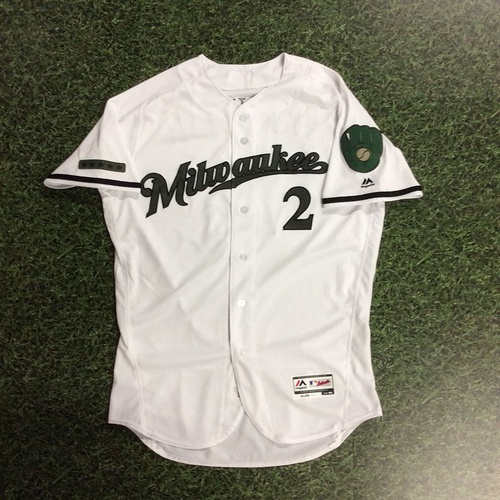 Photo of Nick Franklin 2017 Memorial Day Tribute Game-Used Jersey
