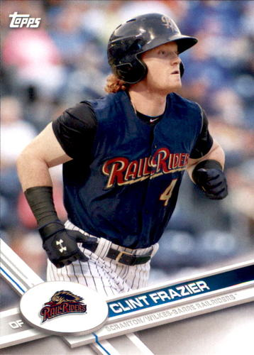 Photo of 2017 Topps Pro Debut #174 Clint Frazier -- Yankees post-season