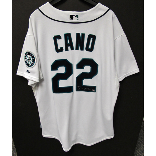 Photo of Robinson Cano 2016 White Autographed Team-Issued Jersey (Size 48)