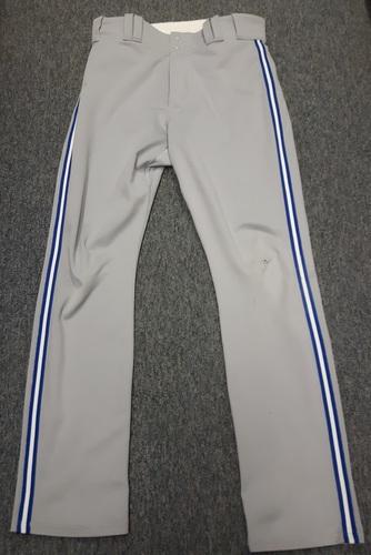 Photo of Authenticated Team Issued Grey Pants - #20 Josh Donaldson (2016 Season). Size 36-40 33 OB.