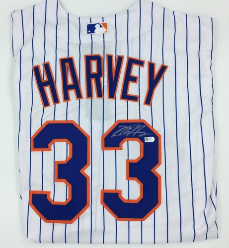 Photo of Matt Harvey Autographed Authentic White Mets Jersey
