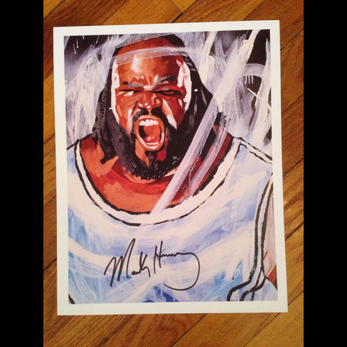 "Photo of Mark Henry SIGNED 11"" x 14"" Rob Schamberger Print"