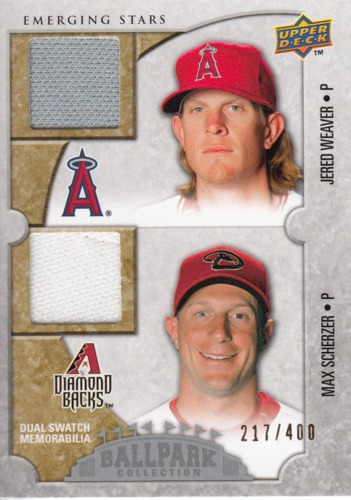 Photo of 2009 Upper Deck Ballpark Collection #137 Max Scherzer/Jered Weaver/400