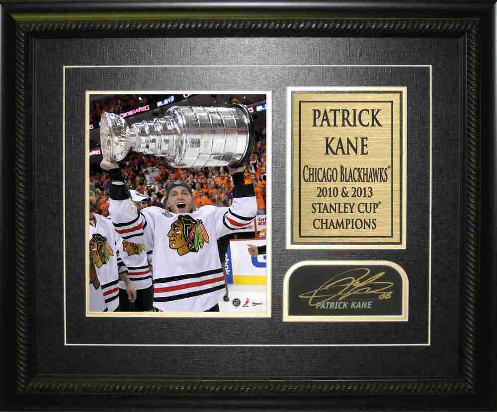 Patrick Kane - Signed & Framed Signature Card - Chicago Blackhawks