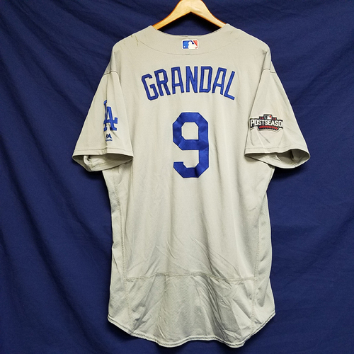 Photo of Yasmani Grandal 2016 Game-Used Road Playoff Jersey vs Chicago Cubs - NLCS Game 6