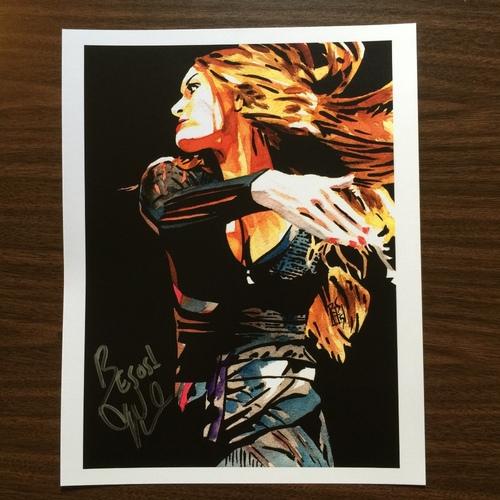 "Photo of Nikki Bella SIGNED 11"" x 14"" Rob Schamberger Print"
