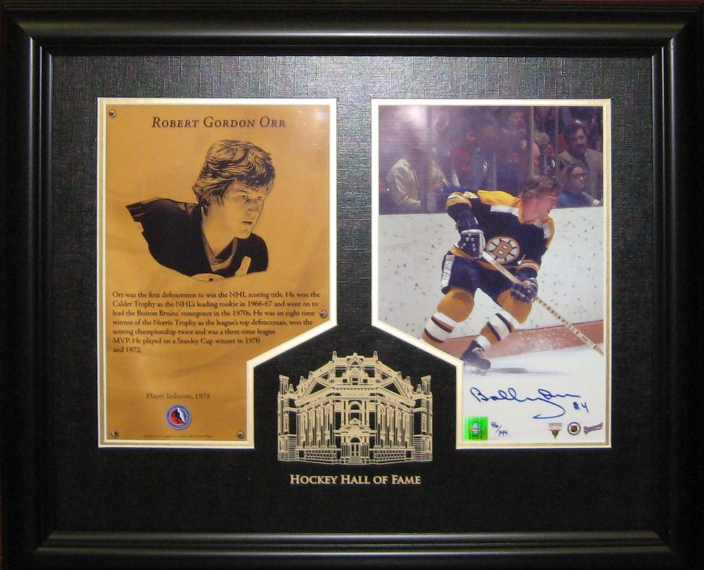 Bobby Orr - Signed & Framed HHOF Print Etched Mat - 55th ANNIVERSARY OF THE OPENING OF THE HHOF (August 26th, 1961)