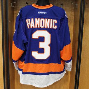 Travis Hamonic - Game Worn Home Jersey - 2015-16 Season - New York Islanders