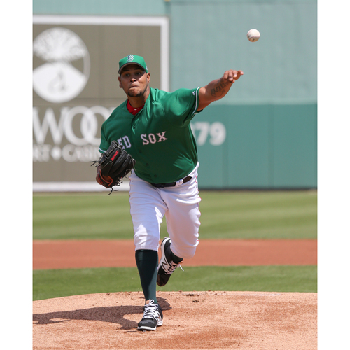Photo of Red Sox Foundation St. Patrick's Day Jersey Auction - Eduardo Rodriguez Game-Used & Autographed Jersey