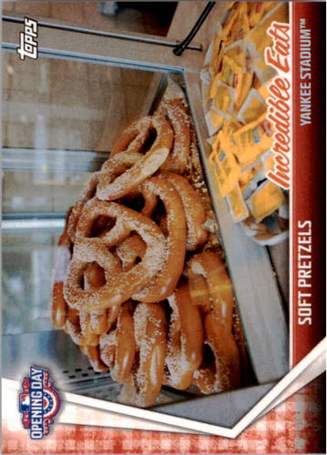 Photo of 2017 Topps Opening Day Incredible Eats #IE10 Soft Pretzels