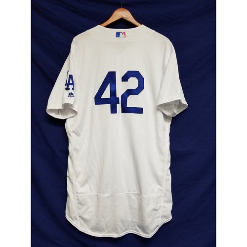 "Photo of Scott Van Slyke Game-Used ""42"" Jersey"