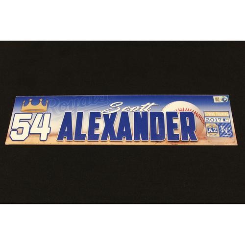 Photo of Scott Alexander Spring Training Locker Name Plate