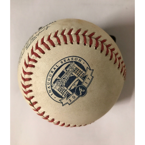Photo of Enrique Hernandez Game-Used Hit Single Baseball - August 3, 2017
