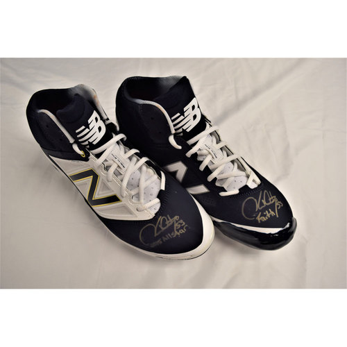 Photo of Hector Santiago Autographed Cleats Benefitting Pet Pal Animal Shelter