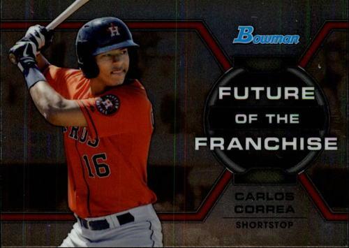 Photo of 2013 Bowman Draft Future of the Franchise #CC Carlos Correa -- Astros post-season