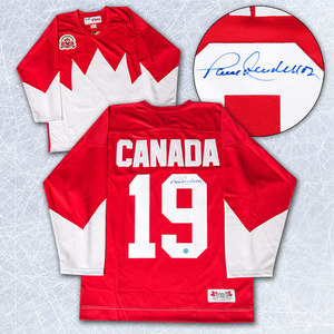 Paul Henderson Team Canada Autographed 1972 Summit Series Red Hockey Jersey