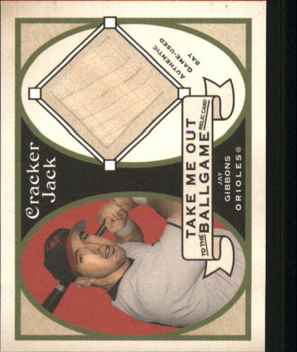 Photo of 2005 Topps Cracker Jack Take Me Out to the Ballgame Mini Relics #JGI Jay Gibbons Bat