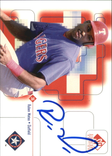 Photo of 1999 SP Signature Autographs #RMA Ruben Mateo