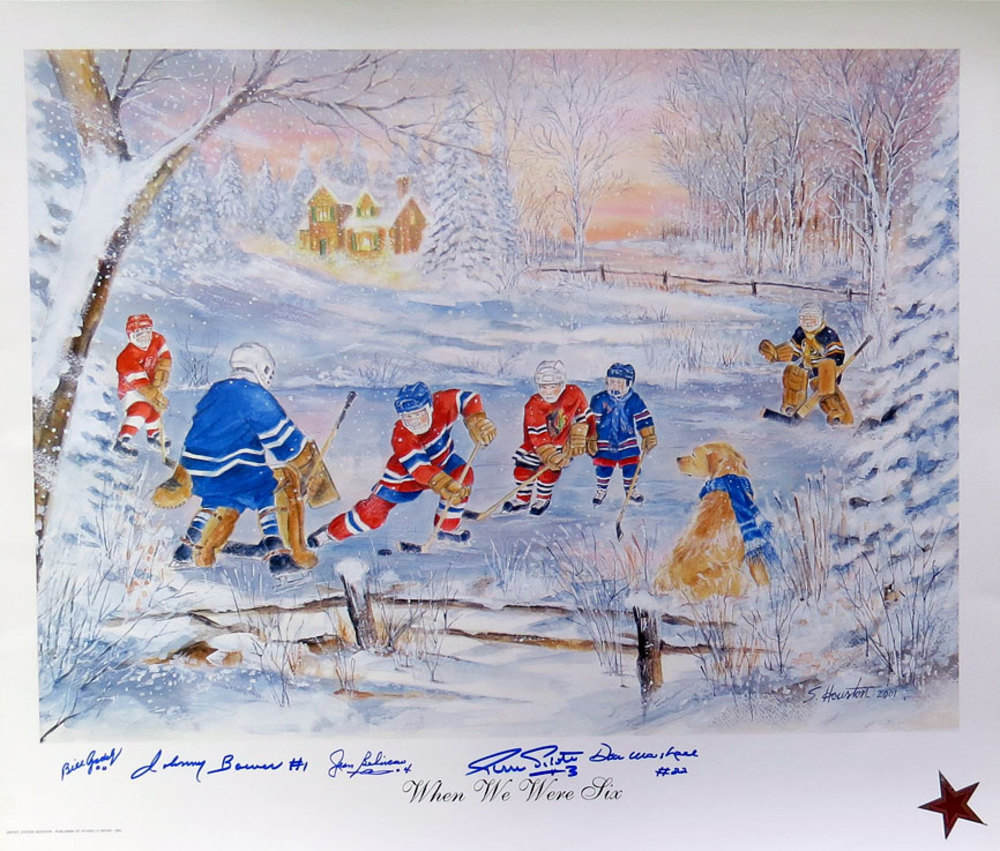 Beliveau, Bower, Pilote, Gadsby & Marshall 5-Signature Whene We Were Six 20x24 Litho