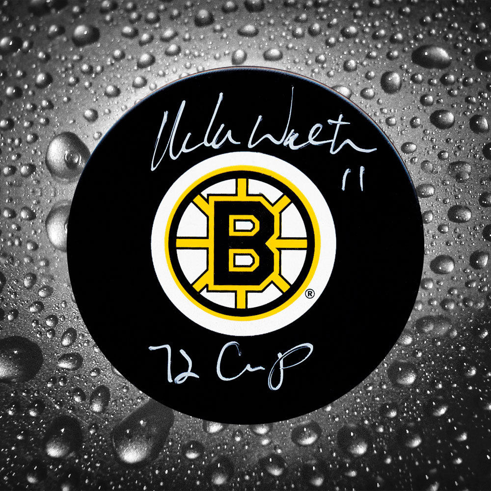 Mike Walton Boston Bruins Autographed Puck w/ 72 Cup Inscription