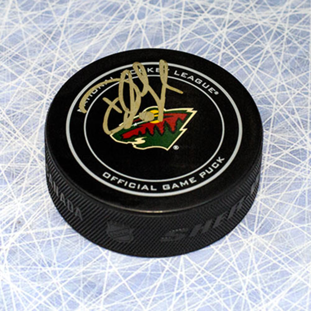 Devan Dubnyk Minnesota Wild Autographed Official NHL Game Puck
