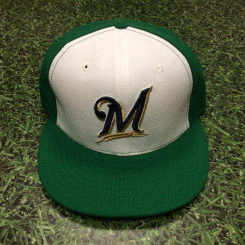 Photo of Marcus Hanel 2015 Game-Used St. Patrick's Day Cap