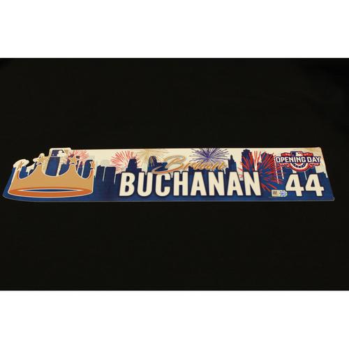 Photo of Brian Buchanan Game-Used Opening Day Locker Name Plate