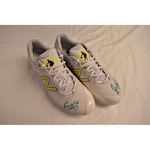 Sonny Gray Autographed Cleats Benefitting Pet Pal Animal Shelter