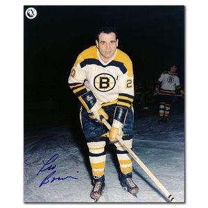 Leo Boivin Boston Bruins Autographed 8x10
