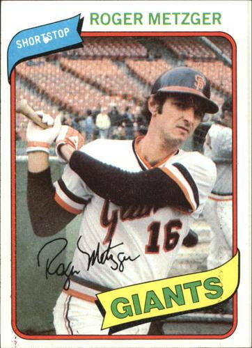 Photo of 1980 Topps #311 Roger Metzger