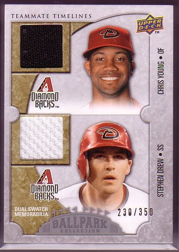 Photo of 2009 Upper Deck Ballpark Collection #157 Stephen Drew/Chris B. Young/350