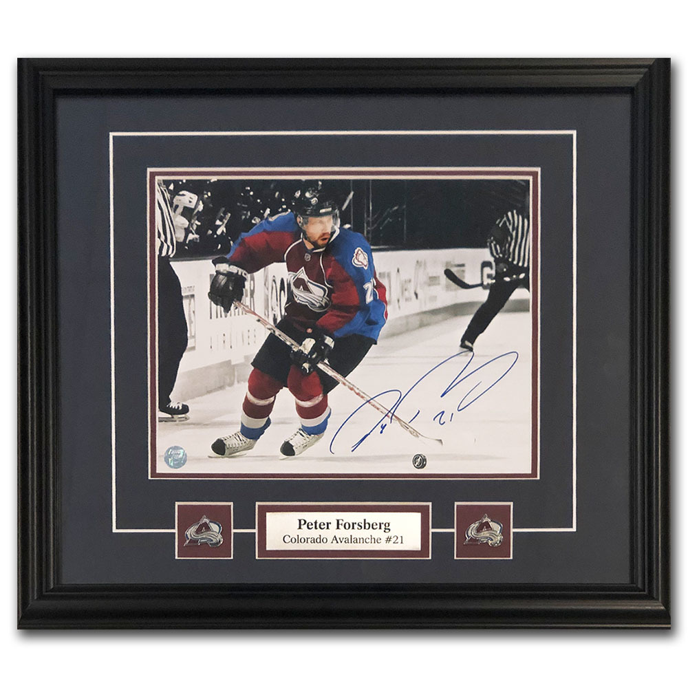 Peter Forsberg Autographed Colorado Avalanche Framed 8X10 Photo