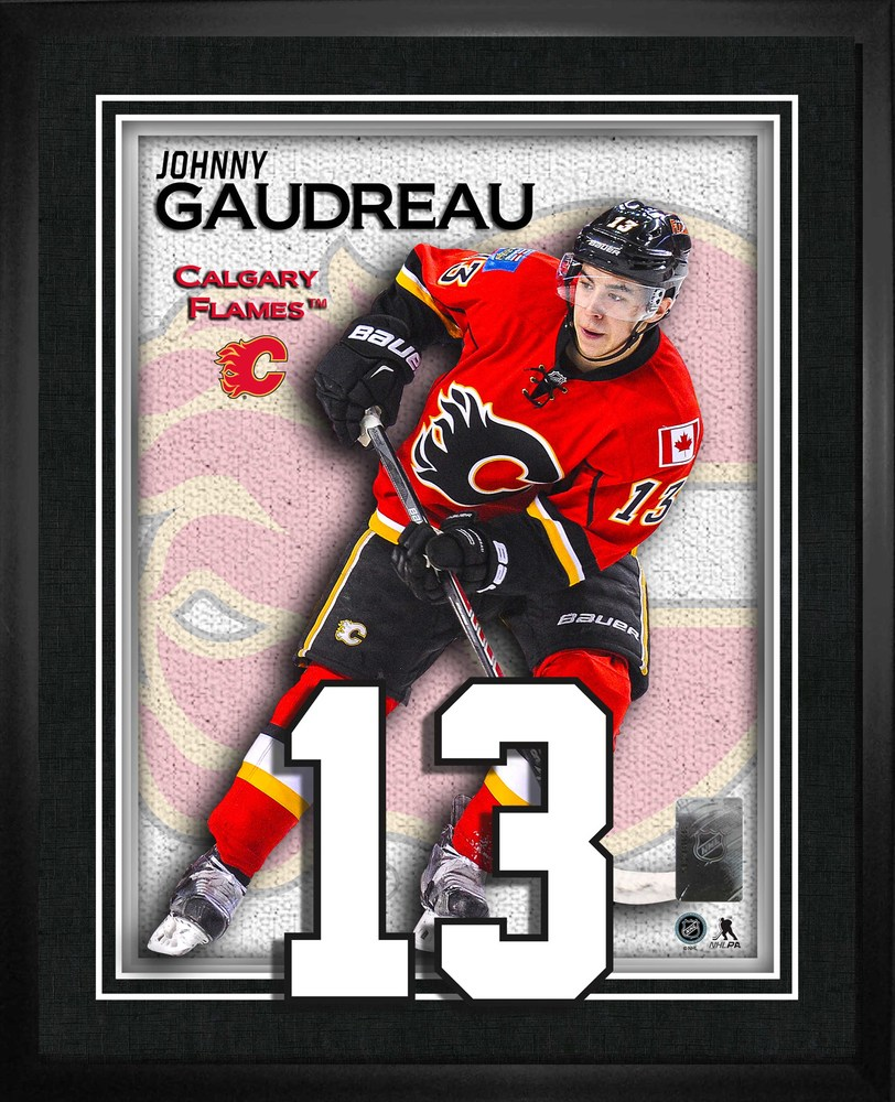 Johnny Gaudreau - Numbers Frame Calgary Flames