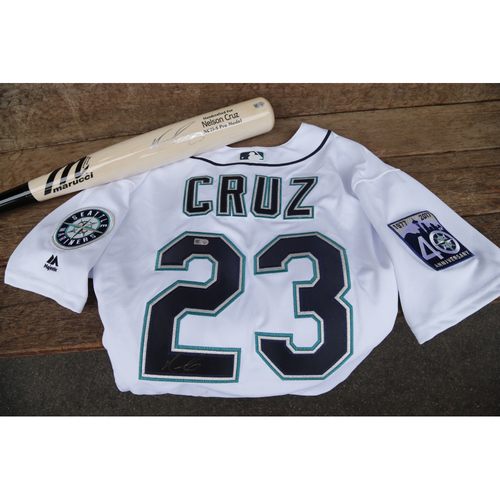 Photo of Mariners Care Charity Night: Nelson Cruz Autographed Jersey and Bat